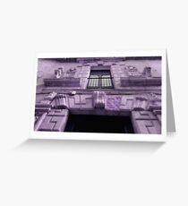purple house Greeting Card