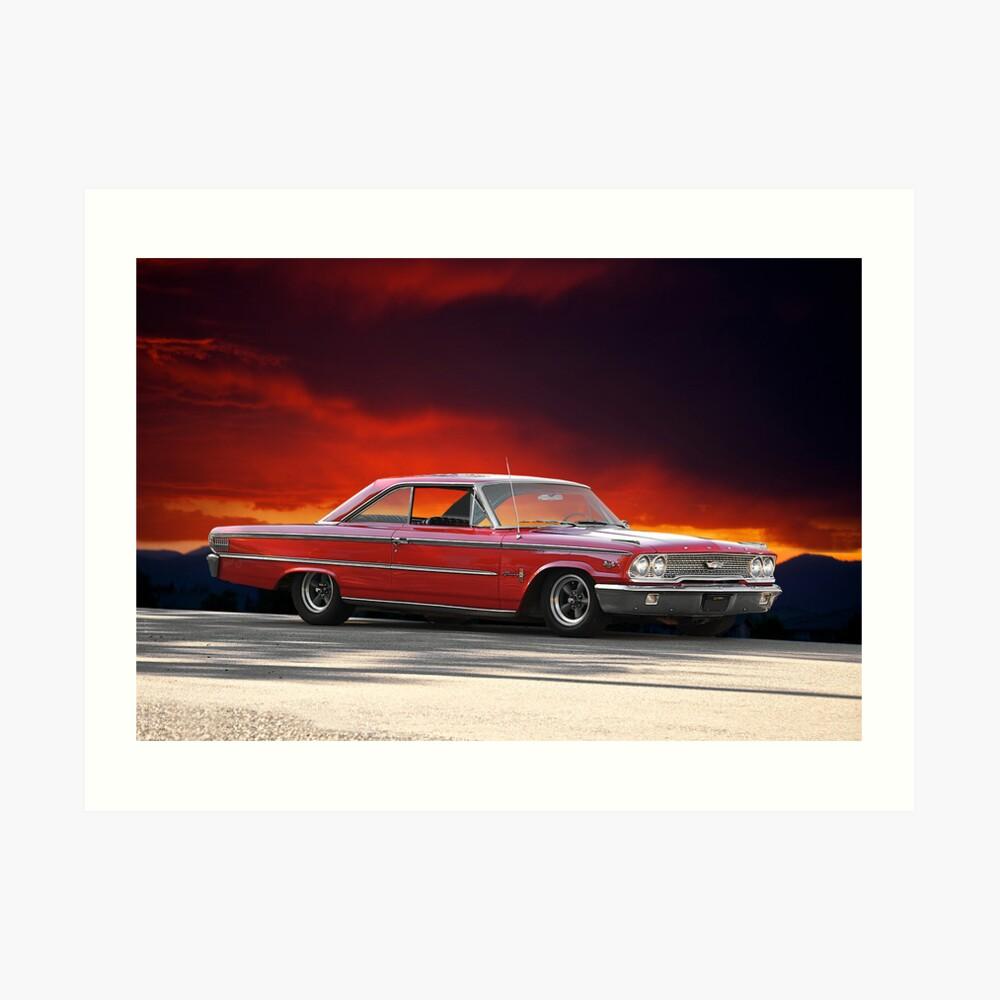 "1963 Ford Galaxie '427 "" Lámina artística"