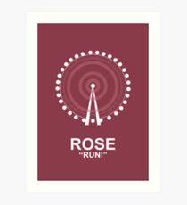Minimalist 'Rose' Poster Art Print