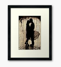 rainy day love story Framed Print
