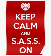 Keep Calm and S.A.S.S. On - Poster Poster