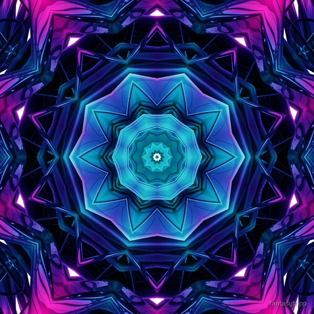 Mirror of Blue and Purple Kaleidoscope 04 by fantasytripp