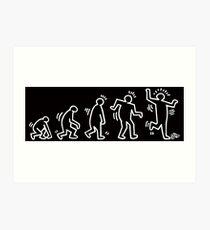 HARING EVOLVES by Tai's Tees Art Print