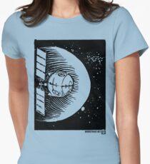 Orbital Satellite Delta-6 (Black Version) Womens Fitted T-Shirt