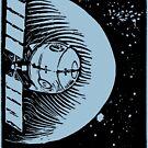 Orbital Satellite Delta-6 (Black Version) by Monkeynaut