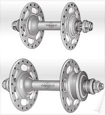 Campagnolo Record Pista Track Hubs Poster