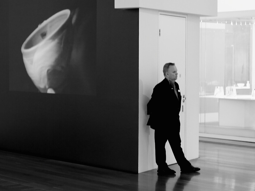 NGV Gallery and Security Guard by Andrew  Makowiecki