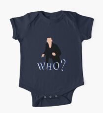 """""""WHO?"""" Ninth Doctor T-Shirt One Piece - Short Sleeve"""