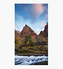 Cout of the Patriarchs at Sunrise Photographic Print