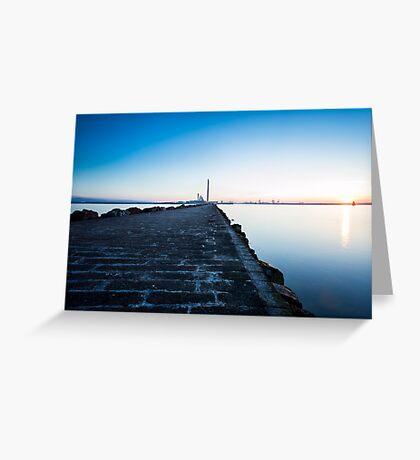South Wall, Dublin Greeting Card