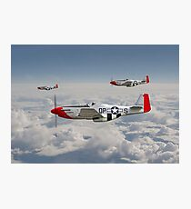 P51 Mustang - 334th Fighting Eagles Photographic Print