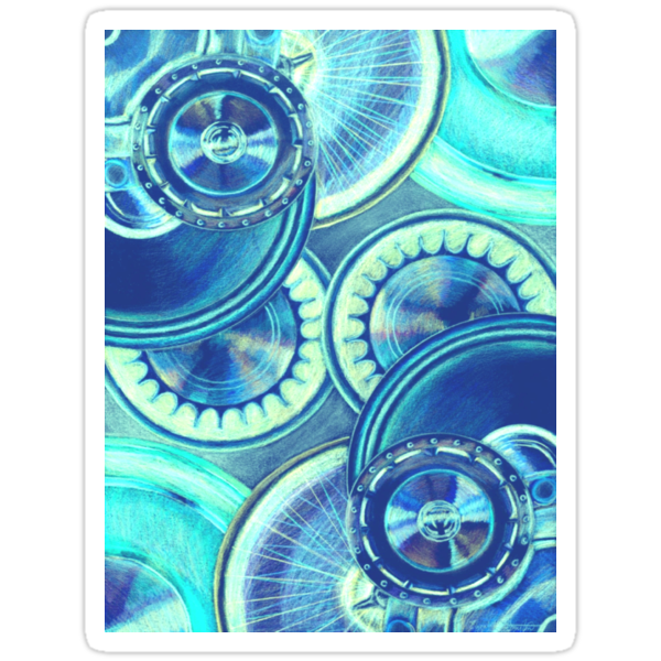 Wheels Blue by Elizabeth Lock