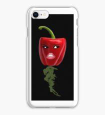 BELL PEPPER WITH AN ATTITUDE IPHONE CASE iPhone Case/Skin