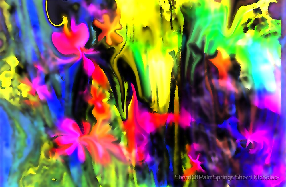 IMAGINATION OF AN ABSTRACT ARTIST by Sherri Palm Springs  Nicholas