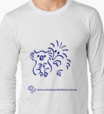 Echidna cartoon with koala - blue Long Sleeve T-Shirt