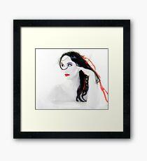 My Red Melancholy - Self Portrait Framed Print