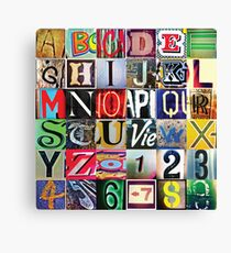Instagram Alphabet Collection #2 Canvas Print