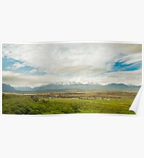 Farm and Mountains Poster