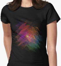 Apophysis Fractal Design - Rainbow Flower Women's Fitted T-Shirt