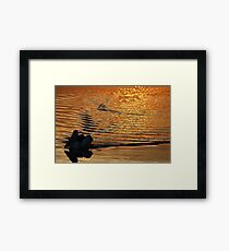 """on golden pond"" - well, St Helens bay.... Framed Print"