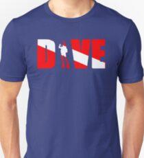 DIVE with scuba diver Unisex T-Shirt