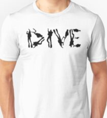DIVE with scuba divers making the word T-Shirt