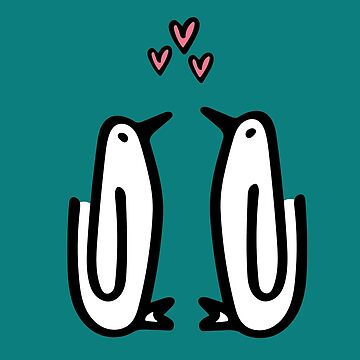 Paperclip Penguin Hearts by paperclipenguin