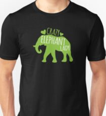 Crazy Elephant lady Slim Fit T-Shirt