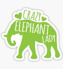 Crazy Elephant lady Sticker