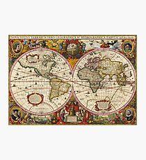 World Map 1630 Photographic Print