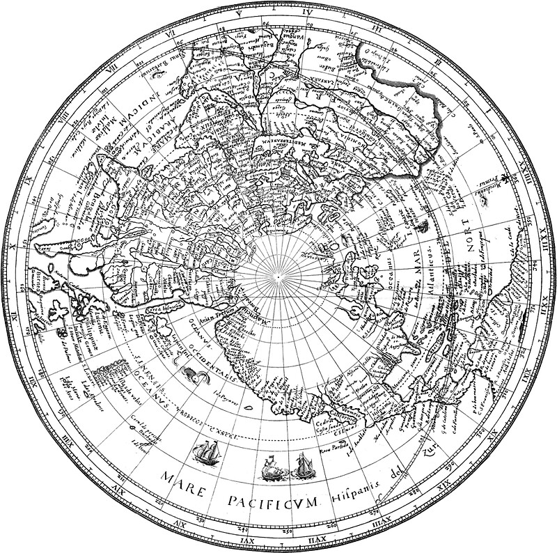 """""""World Map 1628 (Northern Hemisphere)"""" Posters by ..."""