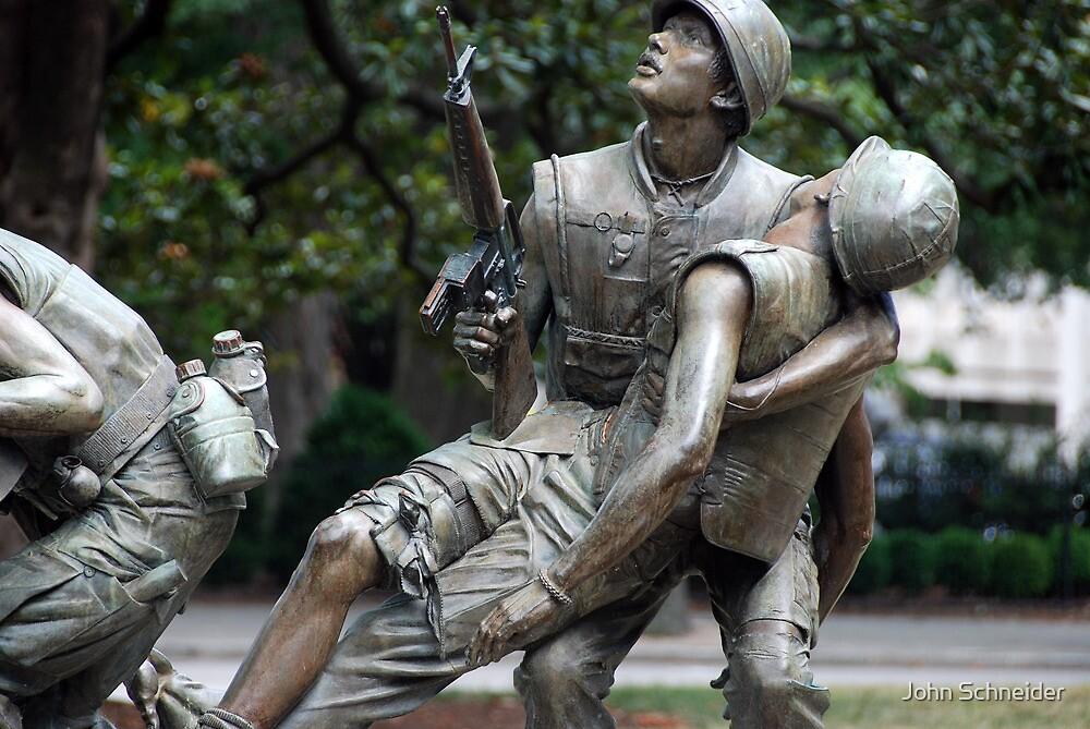 Vietman War Memorial, Raleigh NC USA by John Schneider