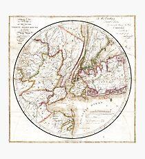 New York Map 1828 Photographic Print