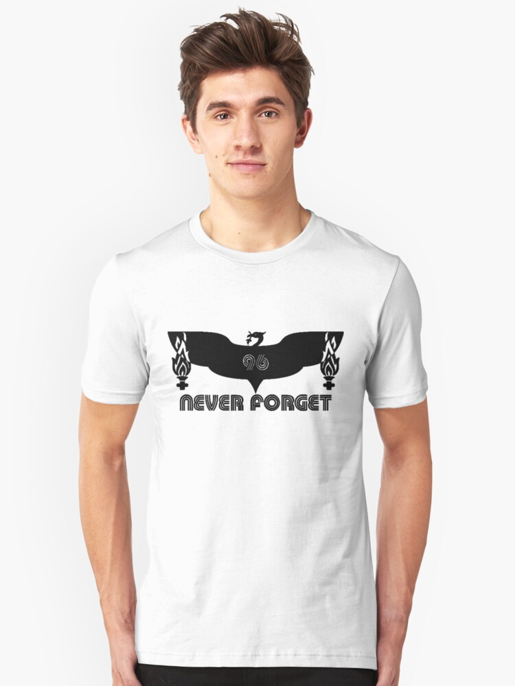 LFC 96 Never Forget - Black Unisex T-Shirt Front