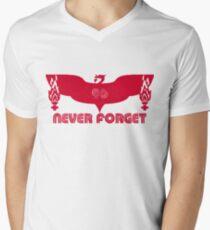 LFC 96 Never Forget - Red Mens V-Neck T-Shirt
