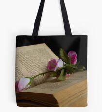 book and rose Tote Bag