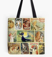 Art Nouveaus Advertisemets Collage Tote Bag