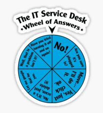 The IT Service Desk Wheel of Answers. Sticker