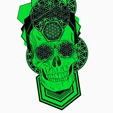 Bursting Geo Skull by Tiduk