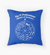 The IT Professional Wheel of Answers. Throw Pillow