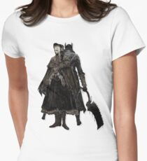 Bloodborne - Doll and Hunter Womens Fitted T-Shirt