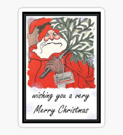 Wishing You A Very Merry Christmas Greeting  Sticker