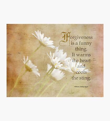Forgiveness inspirational Photographic Print