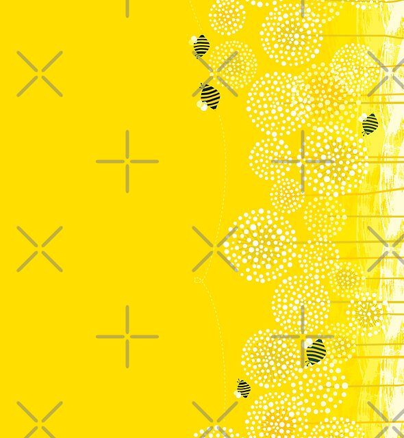 Bees over the Dandelions - Horizontal by rusanovska