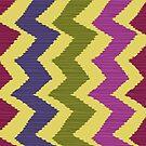 Zigzag Ikat Pattern by rusanovska