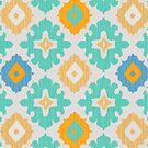Diamond Ikat Pattern by rusanovska