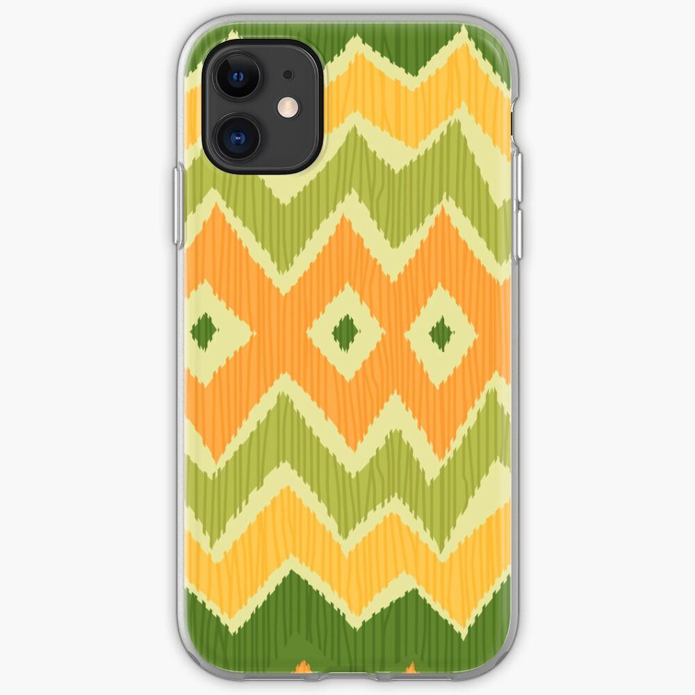 Diamond & Zigzag Ikat Pattern iPhone Case & Cover