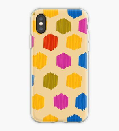 Honeycomb Ikat Pattern iPhone Case