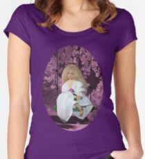 (✿◠‿◠)SWINGING WITH THOUGHTS OF YOU TEE SHIRT(✿◠‿◠) Women's Fitted Scoop T-Shirt
