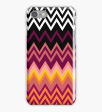 Retro Zig Zag Patterns iPhone Case/Skin